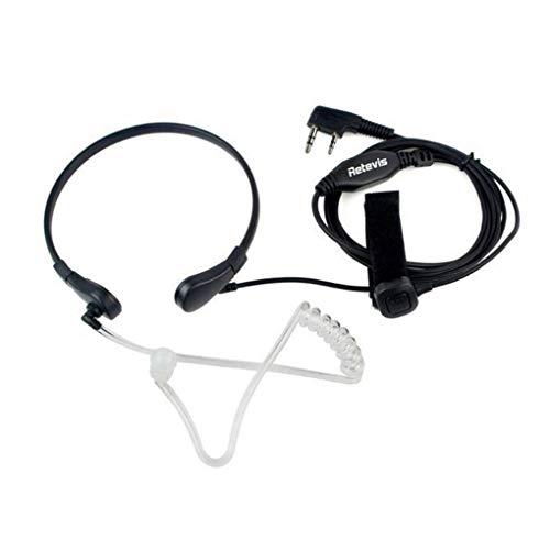 Yihaifu Auricular de micrófono PTT de la Garganta para Auriculares UV-5R Radio de jamón