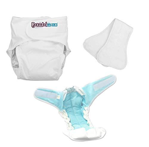 Bambinex ADULT ** Pannolino lavabile per ragazzi e adulti ** TUTTO in UNO per incontinenza (Taglia 3)