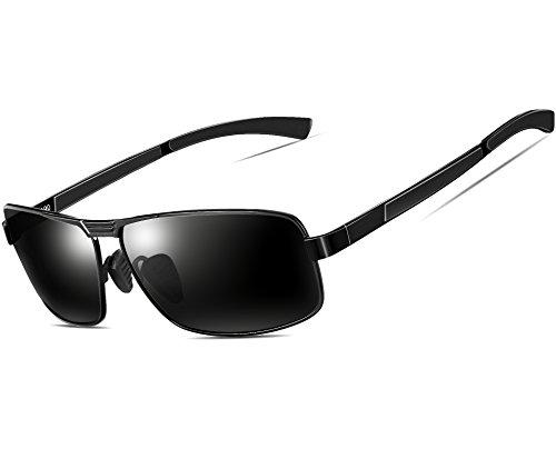 ATTCL Uomo Occhiali Da Sole Polarizzati Metallo Cornice 2490 black