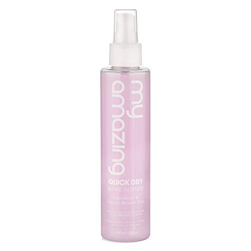 My Amazing Quick Dry Shake 'n Spray, 6.76 oz. - Heat Protecting Spray for Women and Men, Styling Spray for All Hair Types, Premium Frizz Control, Reduced Dry Type, Unisex