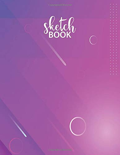 Sketchbook: Notebook for Drawing, Writing, Painting, Sketching or Doodling, 8.5x11 - 120 Pages, Pink Slide Glass Sketchbook ( Blank Paper Drawing and Write Journal )