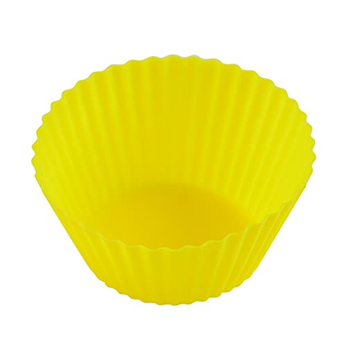 Moldes de Resina 10 unids Magdalena de silicona molde reutilizable taza de pastelería para hornear taza de horneado muffin redondo pastel herramienta hornear masa para hornear herramientas de cocina