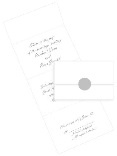 Seal Send Invitations - Radiant White, 50 pack