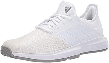 adidas mens Gamecourt Wide Tennis Shoe, Ftwr White/Ftwr White/Dove Grey, 11.5 US