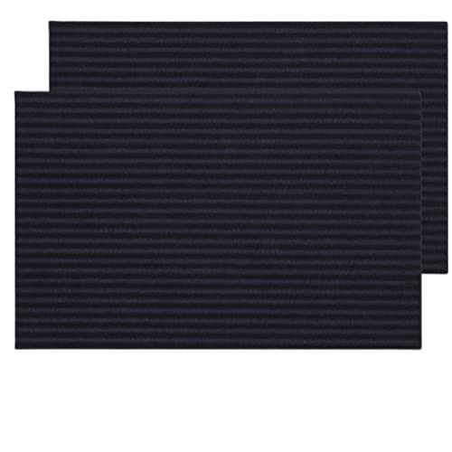 Alfiya - 2 Felpudo de entrada/ Felpudo/Felpudo de conductor/ Gris/ Interior/ Exterior/ Antipolvo/55x35cm/ Protección/ Regalo/ Cocina/ Polvo/ Cocina/ Suelo/ Manzana/ Origen/ Puerta/ Medida/ Lavable/ Pe