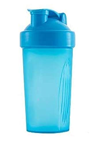 400 ml,Milkshake protein powder shaker cup,Fitness supplement mixing cup-blue