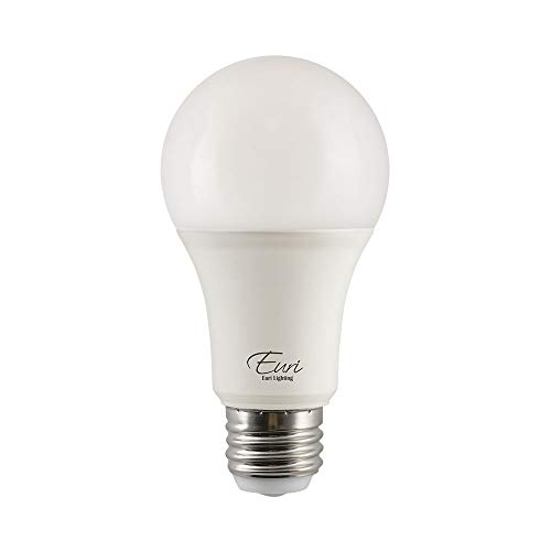 Euri Lighting EA19-14W2140et, LED 3-Way A19, 4/8/14W (40/60/100W Equivalent), 500/1000/1500lm, 4000K (Bright White) E26 Base, Fully Enclosed Rated, Damp Rated, UL & Energy Star, 3YR 25K HR Warranty