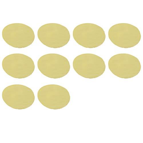 LQKYWNA Alfombrilla De Silicona Amarilla para Vaporizador De Tela Antiadherente, Alfombrilla De Malla para Vaporizador, Alfombrilla Reutilizable para Pastelería Redonda, Malla Tenue