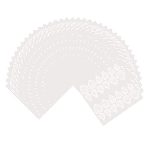 PROGARMENTS 40 Feuilles (960PCS) Autocollants à Ongles Double Face Transparents, Adhésif Autocollant d'Ongle de Gelée pour Bricolage Manucure Ongle Art Décoration