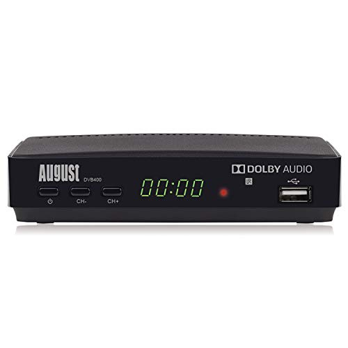 HD Freeview Set Top Box – August DVB400 - Watch, Record, Play and Pause Live TV in 1080p High Definition - SCART and HDMI AV Out for Old and New Televisions