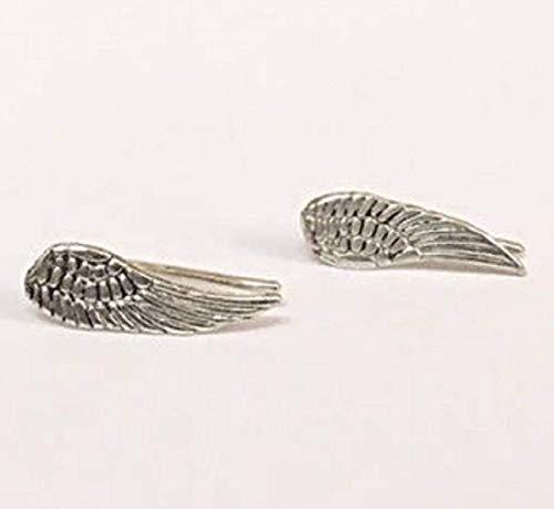 FloweRainboW Flügel Ohr Kletterer Ohrringe - Ohrklemme - Ohr Manschette Sterling Silber 925