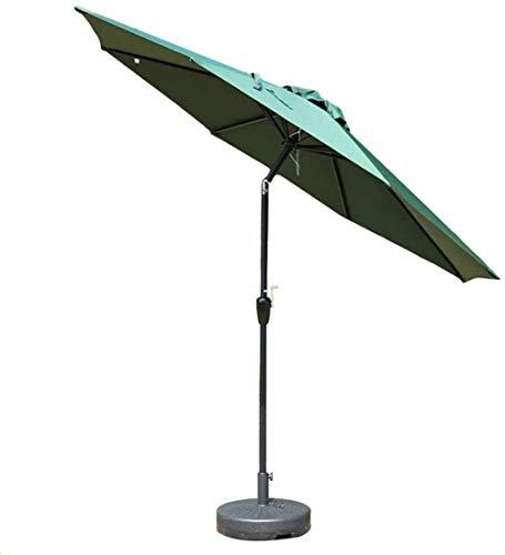 DHTOMC Ruinaier Houswares Sun Parasol Umbrella Garden 9FT Patio al Aire Libre Mesa de jardín Umbrella con Ajuste de inclinación, Mercado de Eventos comerciales de Playa, Camping, Lado de la