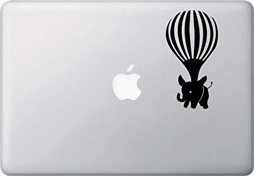 Elefante Airlift, globo de aire caliente, portátil, MacBook calcomanía de vinilo (2.75 pulgadas de ancho x 5 pulgadas de alto) (opciones de color)