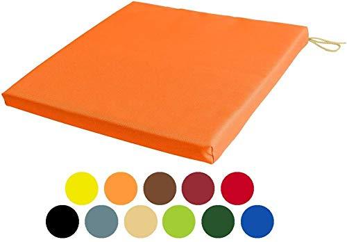 Xicaimen Cojines Impermeables para sillas de Patio con amarres de Asientos Muebles para Interiores y Exteriores Asientos Poliéster Resistente al Agua Naranja