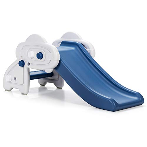 COSTWAY Kids First Slide, Freestanding Baby Play Climber Slider with Anti-Slip Foot Pads, Widened Pedals, Toddler Toy Activity Center for Indoor Outdoor
