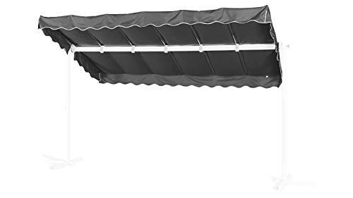 GRASEKAMP Qualität seit 1972 Ersatzdach Standmarkise Dubai Grau Raffmarkise Ziehharmonika Mobile Markise