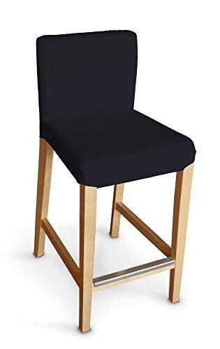 Dekoria Henriksdal Husse für Barhocker Husse Stuhlbezug,Stuhlkissen passend für IKEA Modell Henriksdal schwarz