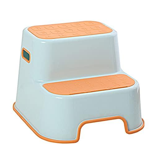 XYW Step Sgabello - Steso per Bambini Sgabello Lavaggio a Mano Sgabello Imbottito per Bambini Sgabello Bagno Bagno Antiscivolo Step Aumentato Sgabello a Pedale (Color : #6)