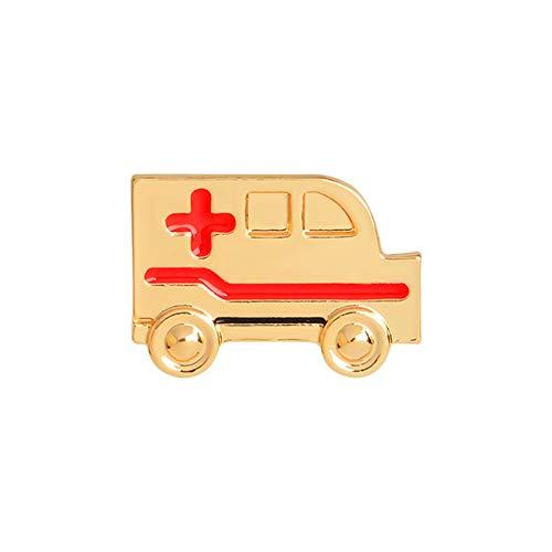 N-K Erste-Hilfe-Auto Form Brosche Pins Schmuck Kleidung Taschen Rucksäcke Capel Jacke Abzeichen Zubehör, Gold Dauerhaft