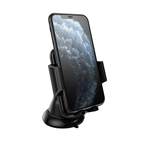 N NEWTOP Supporto Forte ST03 Universale Parabrezza Braccio Cruscotto Ventosa Vetro Regolabile con Rotazione a 360 Gradi da Auto Macchina Porta Cellulare Smartphone Telefono