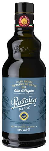 """Pantaleo IGP """"Olio di Puglia"""" Olio Extravergine di Oliva Italiano, 1 Bottiglia da 500 ml di Olio extravergine di Oliva, Estratto a Freddo, Olio Extravergine di Oliva Pugliese con Tappo Antirabbocco"""