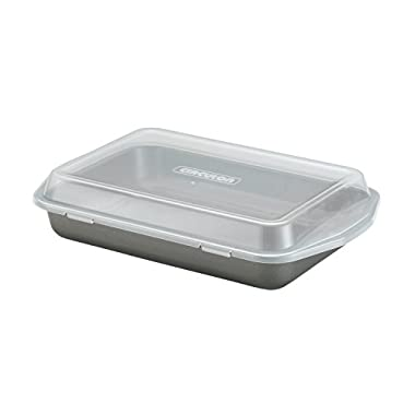 Circulon Nonstick Bakeware 9-Inch-by-13-Inch Rectangular Cake Pan with Lid