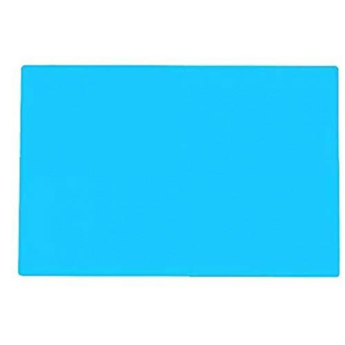 Yililay Junta de Alimentos Tabla Mat Harina Alfombra Antideslizante Gel de Silicona de la Estera de Tabla niños a Prueba de Calor Azul Grande 50 * 70cm