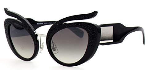 Miu Miu 0MU04TS VW35O0 53 Gafas de sol, Negro (Black/Grey Silver), Mujer