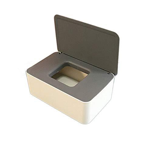 Caja toallitas humedas,Dispensador de Toallitas Húmedas,Caja para Toallitas,Caja para Toallitas Húmedas con Tapa Sello (C)