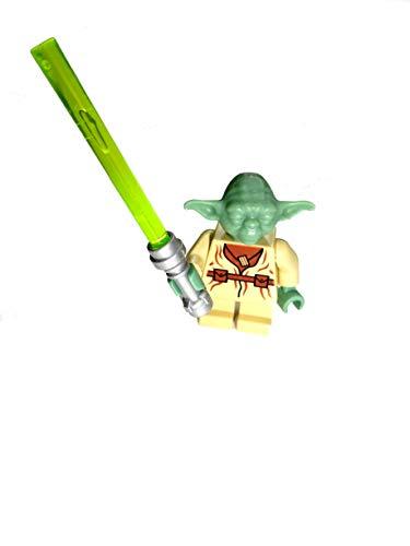 LEGO Star Wars Figur Jedi Meister Yoda (aus dem Bausatz 4502) mit Chromlaserschwert,