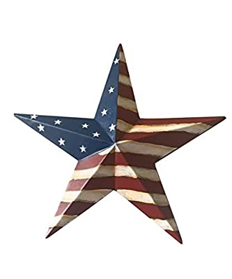 Grace Home Metal Patrotic Old Glory American Flag Barn Star July of 4th Decoration