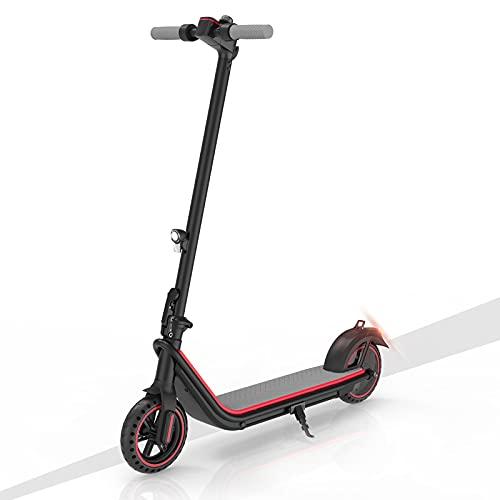 Patinete Eléctrico para Adultos, Scooter Eléctrico Plegable de 380 W con y Modo de 3 Velocidades, E-Scooter para Desplazamientos con Pantalla LCD