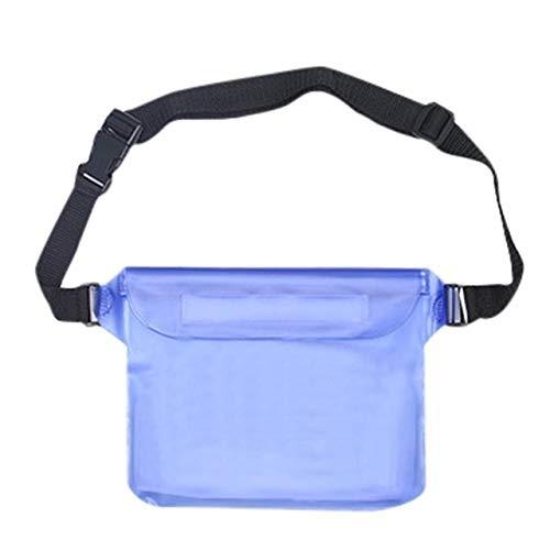 Waterproof Vinyl Phone Dry Bag Swimming Drifting Diving Waist Bag Adjustable Waist Belt for Water Sports Beach Swimming Fishing (Color : Blue bag)