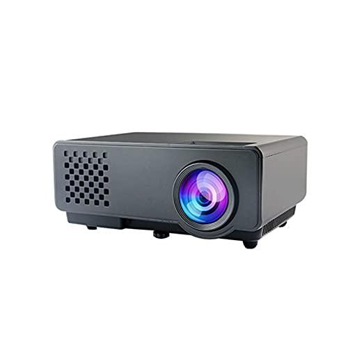 ZEMENG Proyector, Pantalla de proyector de Video Mini portátil, Altavoz de Alta fidelidad Incorporado, Soporte de 1080p, Cine en casa con Interfaz AV de TV USB HDMI y Control Remoto