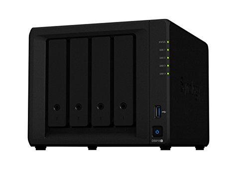 """Synology DiskStation DS918+ Ethernet Escritorio Negro NAS - Unidad RAID (4 TB, Unidad de disco duro, Unidad de disco duro, SSD, M.2, SATA, 1000 GB, 2.5/3.5"""")"""