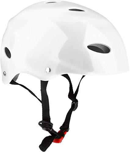 Tenlacum Vent Casco de Seguridad ABS Duro y Forro de EVA para Deportes acuáticos, Kayak, Drifting Wakeboard Sup Paddleboard Skate, Blanco