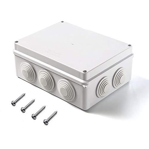 Magiin Abzweigdose IP65 wasserdicht staubdicht Anschlussdose, ABS-Kunststoff Universal Verbindungdose für Feuchtraum (200 x 155 x 80 mm)