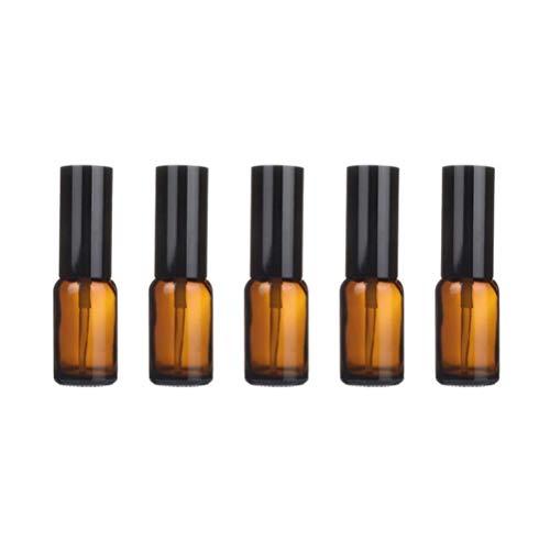 Hemoton 5 pcs Portable en Verre Bouteille Vide Durable Bouteilles D'huile Essentielle Parfum Distributeur Lotion sous-Emballage Bouteille pour Voyage À Domicile (15 ML Spray)