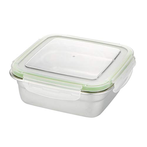 perfk Stainless Steel Lunch Box Food Container Lunch Box Washable Portable Box - 750ml