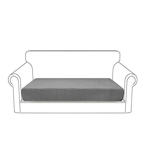 Granbest Premium Wasserdicht Sofa Sitzkissenbezug, High Stretch Jacquard Sitzkissenschutz Sofasitzbezug für Couch (2 Sitzer, Hellgrau)