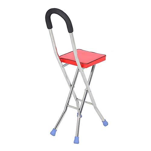 𝐑𝐞𝐠𝐚𝐥𝐨 𝐝𝐞 𝐍𝐚𝒗𝐢𝐝𝐚𝐝 Cosiki Trípode Ajustable Que equilibra el Taburete portátil de trípode de bastón para Caminar, bastón Plegable, para Exteriores, los mismos Pasos, Hierba, Nieve, bache