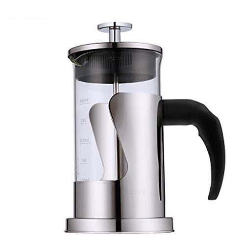 Druckkaffeekanne Edelstahlkaffeekanne Mit Hohem Borosilikatgehalt Hitzebeständige Kaffeemethode Druckkanne 600ml