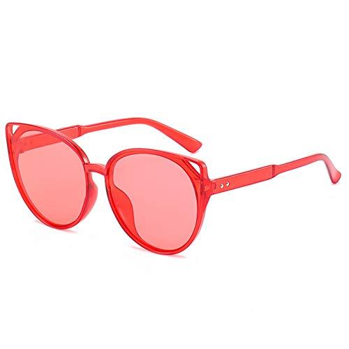 Epinki Unisex Polarisiert Sonnenbrille Katzenauge Hohl Mode Brille UV400 Schutz   Vollrand   für Outdoor Sport, Reise - Rot