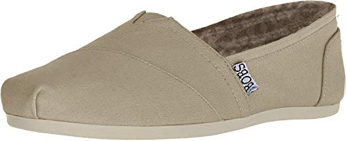 BOBS from Skechers Women's Plush Peace and Love Flat,Taupe,9 M US