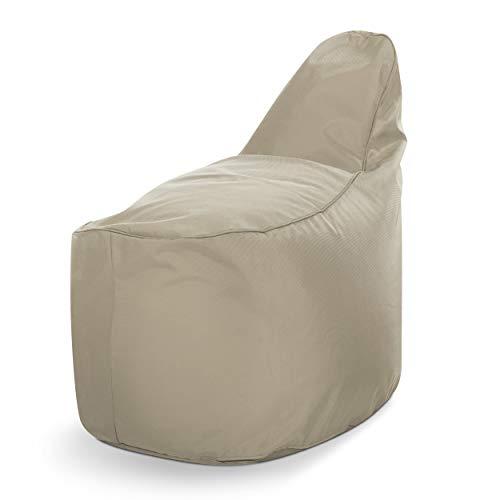 Green Bean © Line-up Chair Sitzsack - 70x50x90 cm - 220L Füllung - Sitzhöhe 60cm, Rückenlehne 30 cm - schmutzabweisend, waschbar - Indoor & Outdoor - für Kinder, Jugendliche & Erwachsene - Beige