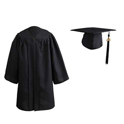 XinGxMei Robe De Soirée De Fin D'études Enfant, 2020 Robe Cérémonie De Remise Des Diplômes De L'école Maternelle, Gland De Robe De Chapeau De Bachelor