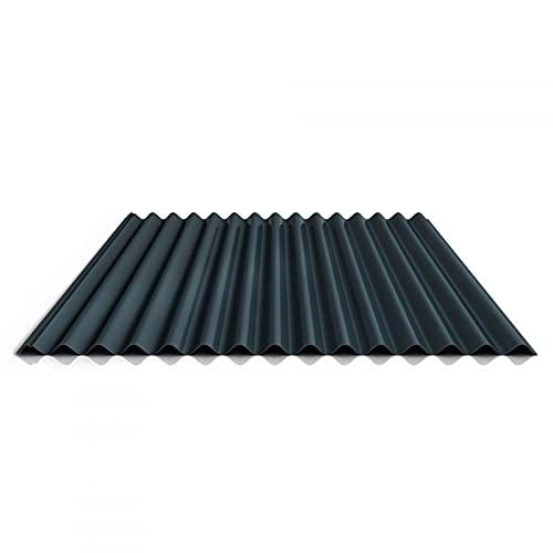 Wellblech | Profilblech | Dachblech | Profil PS18/1064CRA | Material Stahl | Stärke 0,50 mm | Beschichtung 60 µm | Farbe Anthrazitgrau