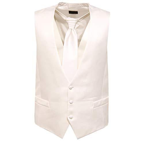 CARLO PIGNATELLI 3178J Gilet da cerimonia + cravatta Silk White Gilet Man [52]