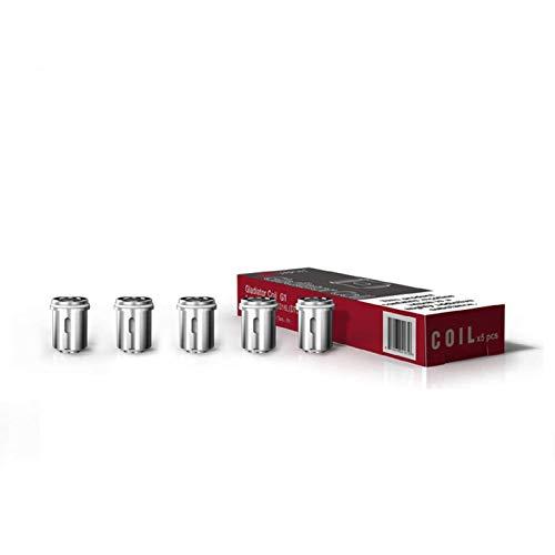VAPTIO Vaptio Solo Coils Cigarrillo electrónico vape Gladiator Coil SS316 para Solo Basic-II Kit. resistencia de disparo mínima de 0.5ohm 5pcs Sin líquido E Sin nicotina