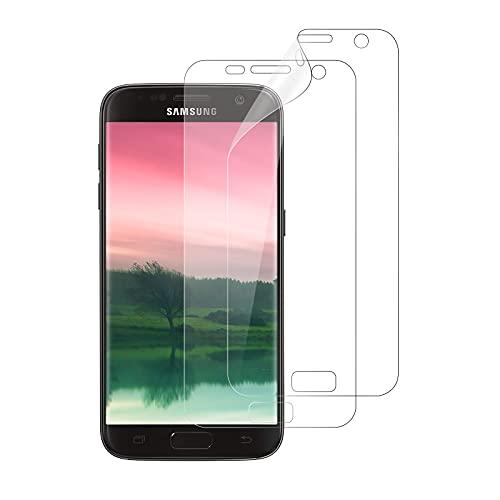 WISMURHI Protector de Pantalla para Samsung Galaxy S7 Edge, [2 Pack] Liquid Skin TPU [Anti-Arañazos] [Sin Burbujas] HD Film Flexible Transparente con para Galaxy S7 Edge (Not Cristal Templado)